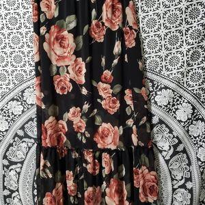 Honey belle rose floral maxi skirt